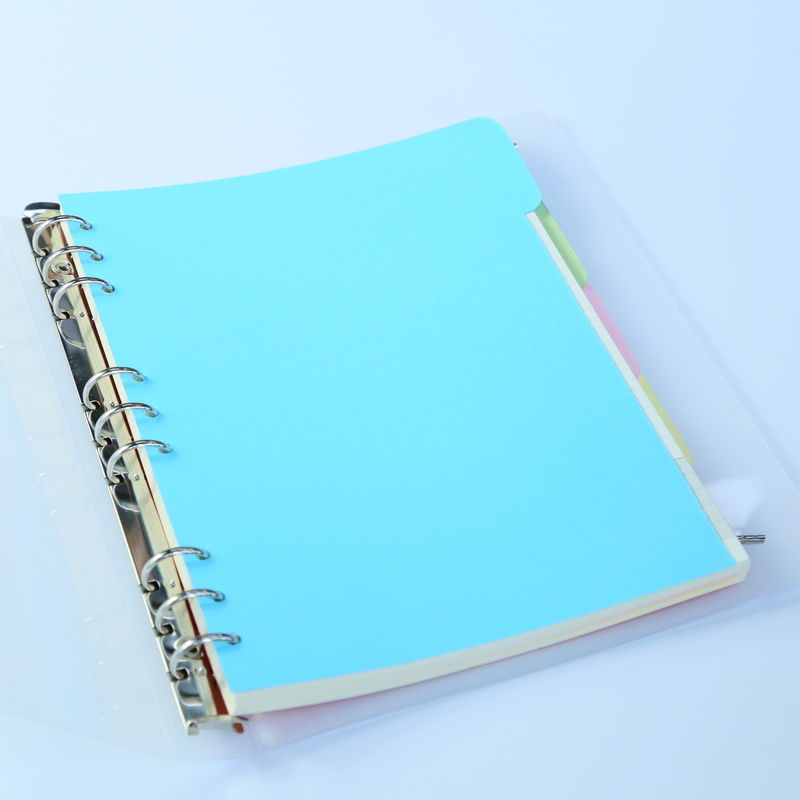 PVC Cover 9 Ring Binder Organizer Colorful Separator Page For Conference / Class